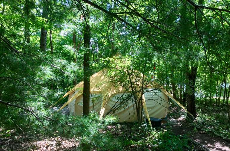 Yurt Glamping Tent in the Forest