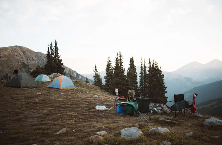 tent mountain lodging
