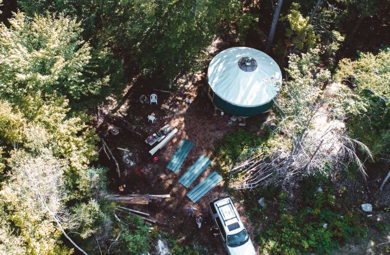 forest yurt lodging