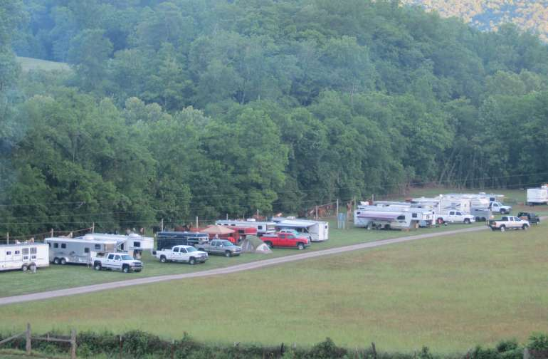 Two campgrounds  at The Bolo to choose from for RV hookups, The Sinking Cove Campground and The Little Crow Creek Campground.