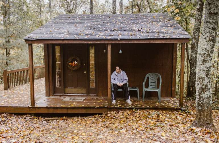 cabin forest people