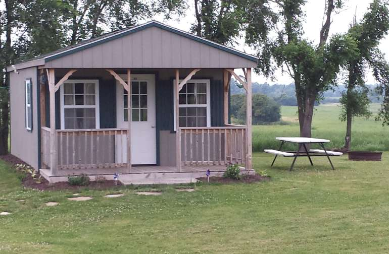 We installed the cabin in 2012.  It is heated and available year round.