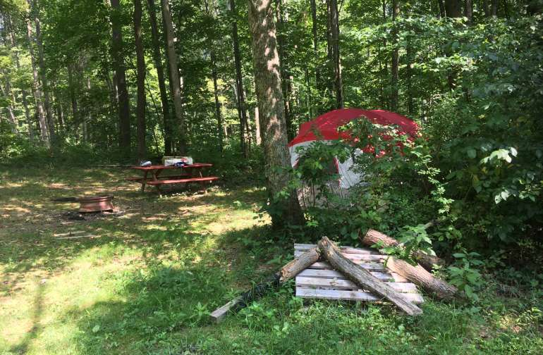 Tent Camping in Turkey Hollow