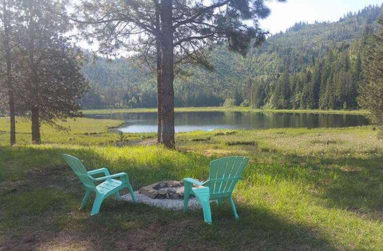 Serene camping overlooking private lake...
