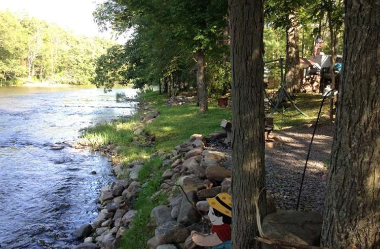 We are located on over 1/2 mile along Penn's Creek