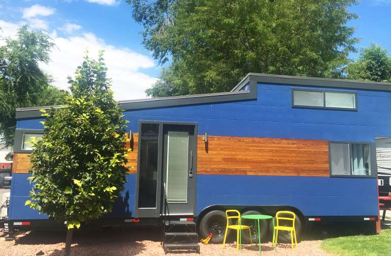 Our Modern Blue Tiny House is so so so much fun!! We can't wait for you to come enjoy all that it has to offer. Tiny doesn't have to mean cramped, we've got 260+ sq feet of awesomeness waiting for you inside!!