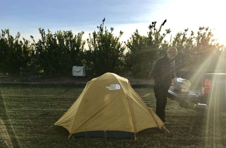 Pinnacle Farms tent campsite