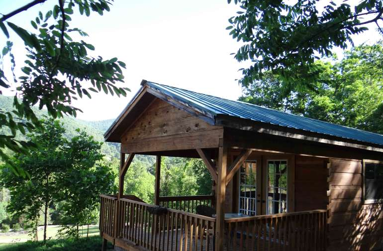 The Looking Glass Mountain Cabin...one of six cabins on our 12-acre property that also includes an historic B&B inn.