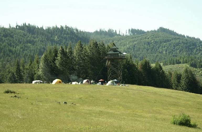 Pitch your tent anywhere on our 40 acre meadow or anywhere in the dozens of acres of trees.
