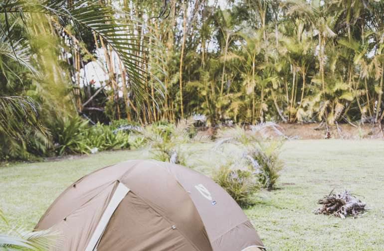 The expansive land allows for many tents, there were plenty of great spots to choose from