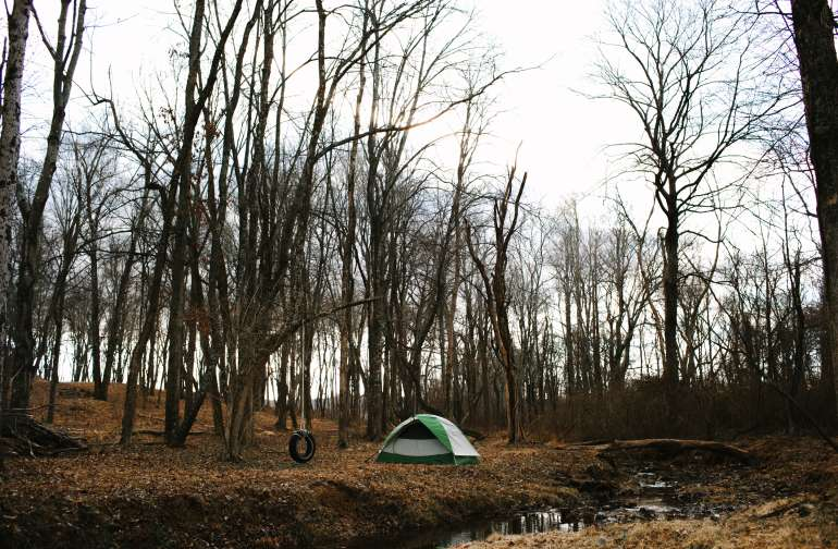 Campsite by the Creek