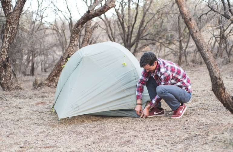 Pitch your tent under the mesquite.