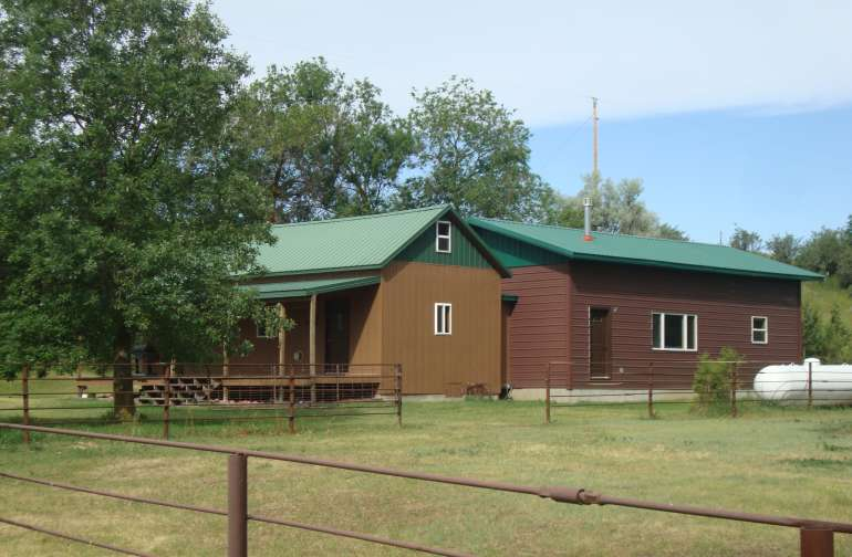 Our cabin.  The loft also has 3 bedrooms and 1.5 baths, a kitchen, and a deck.