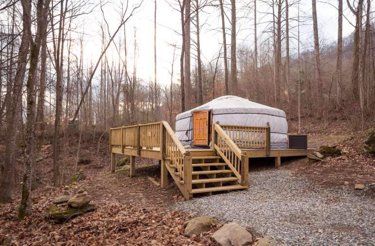 My first yurt experience!