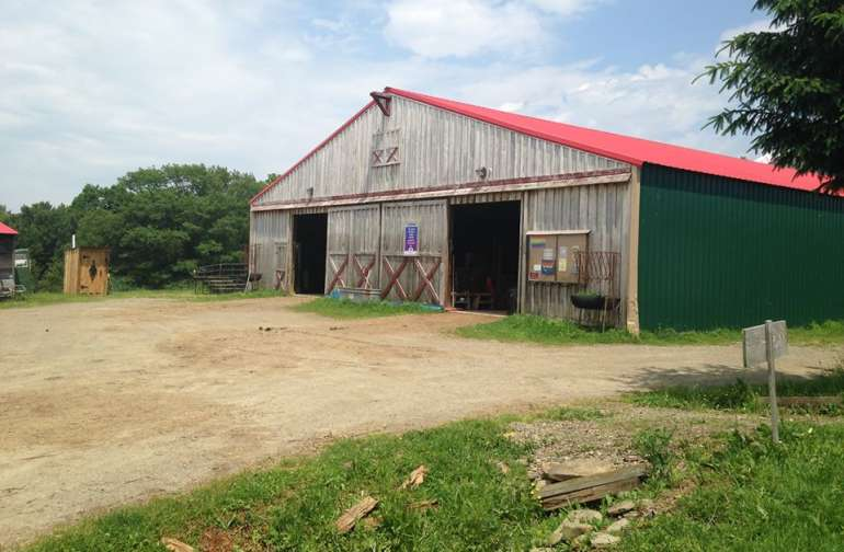This is the front of the barn