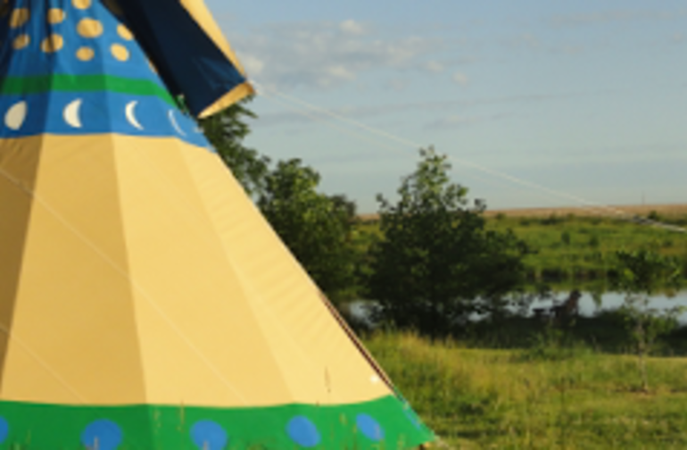 Tipi Camping at Walking Stick Adventures Farm