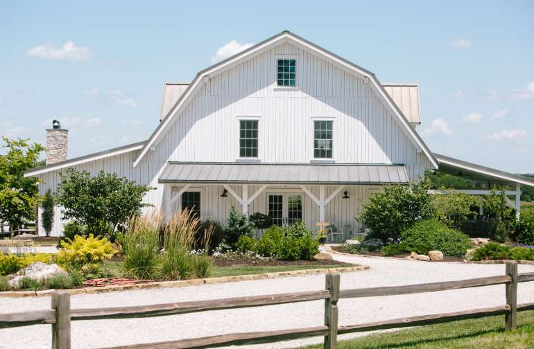 Our beautiful event barn.