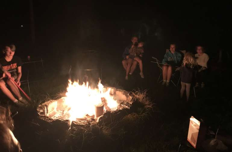 S'mores around the camp fire