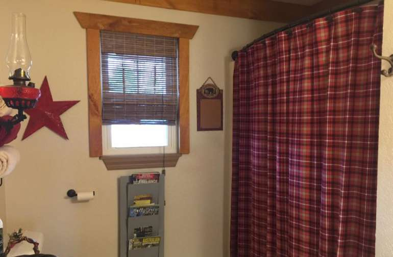 The guest bathroom is just steps away from the guest room. The tub/shower is full-sized. Plenty of fresh towels and washcloths and stocked with toiletries.