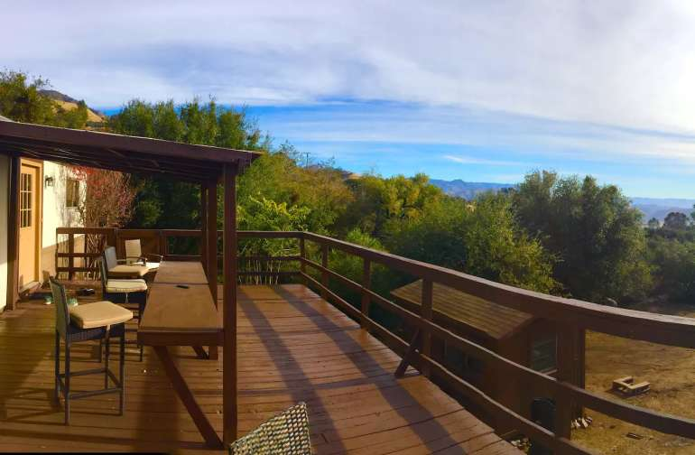 Mega deck with mountain views for days