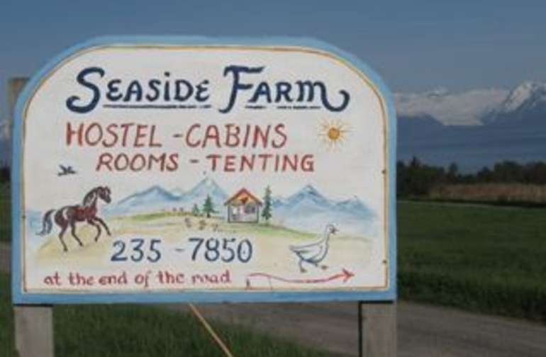Seaside farm welcome sign!