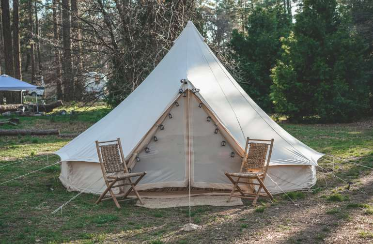 The glamping tent in all its glory!