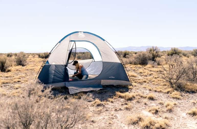 tent people desert