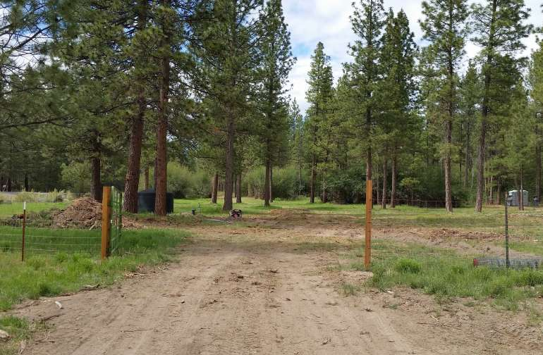 Campground roadway from the inner gate.