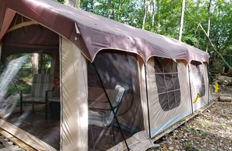 10x20 Glamping tent with all you need