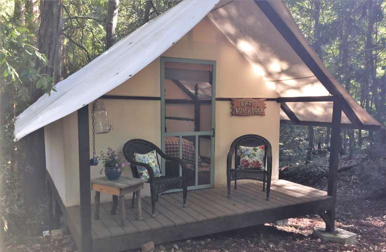 Your luxury glamping cabin awaits!