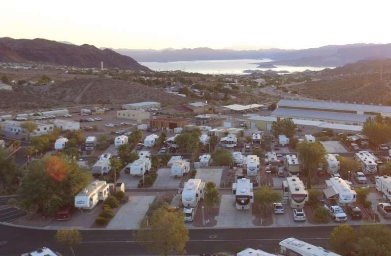 Lake view RV lot near Las Vegas, NV