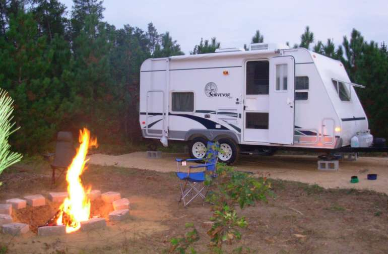 Camper not included