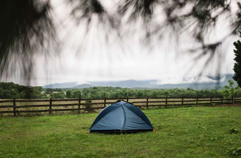 Panoramic views right out front of your tent!!