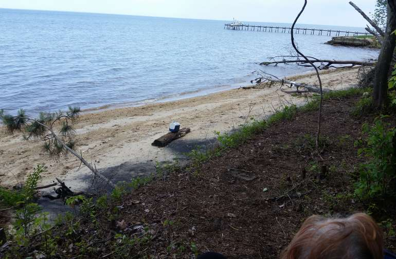 Your own private beach come sit back and relax, maybe do some rock hunting plenty of Maryland state gemstone Patuxent River Rock can be found arrowheads and shark teeth have been found as well