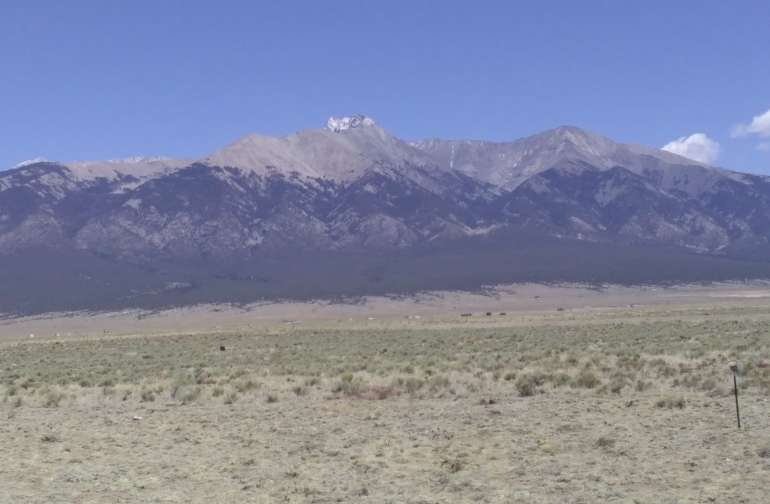 MT Blanca, just couple miles away with mountains all around.