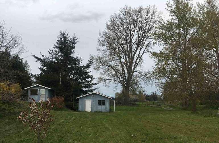 Our garage is on the property, though from the RV site, it is difficult to even see the garage.