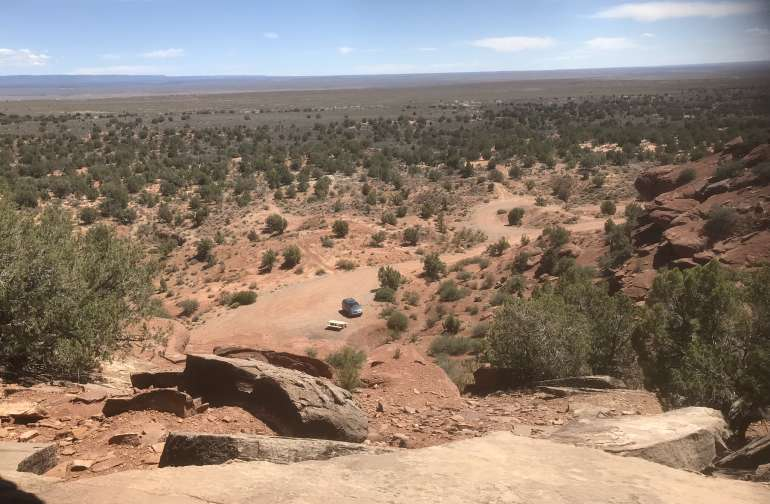 View from the petroglyphs