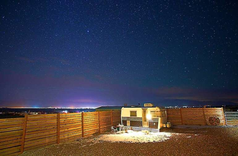 Taos night skies make campers (of the human and trailer variety) feel like a very small piece of a very big place.
