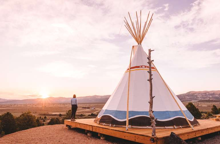 Sunrise from the Tipi was incredible!!