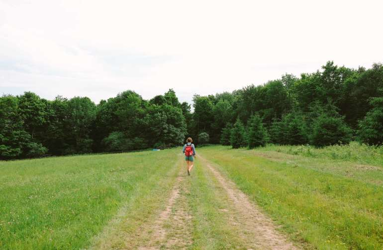 Taking a walk to see the property.