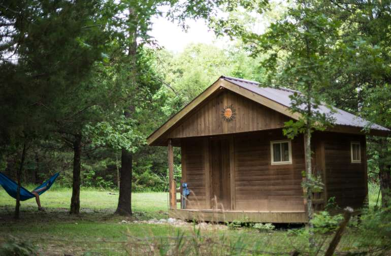 cabin forest hammock