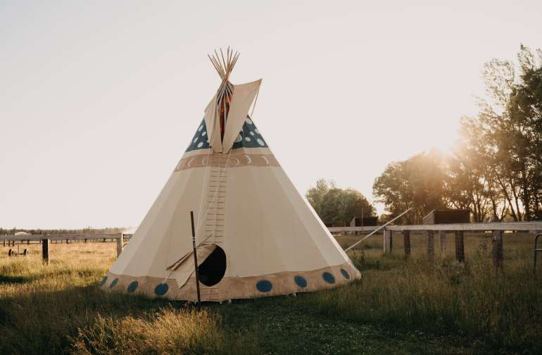 A beautiful tipi to stay in.