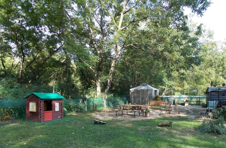 This private base camp at the back of our 3 acre hobby farm has room for up to 5 tents! Relaxed country living is what we offer and we only accept one group at a time - it IS YOUR PRIVATE CAMP!
