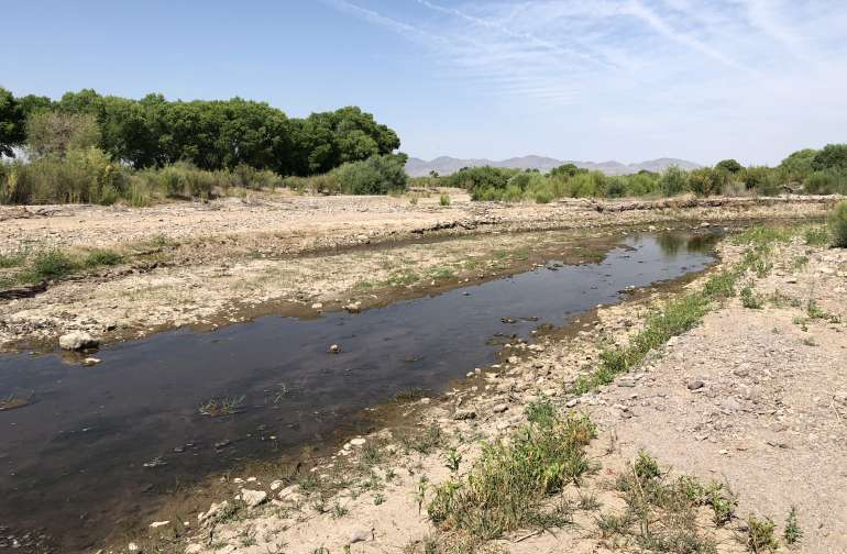 Gila River at low tide