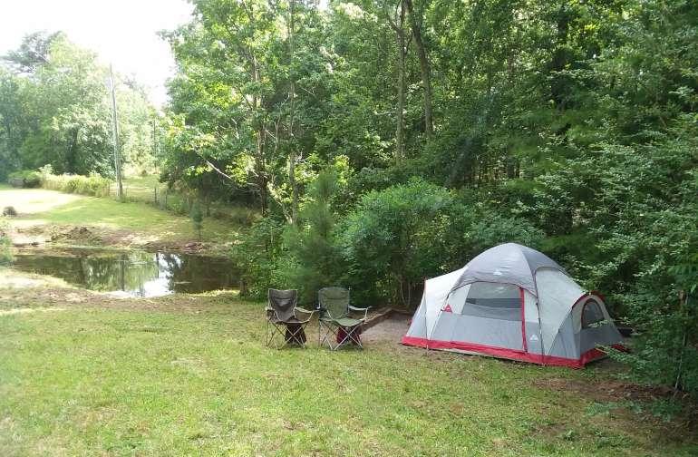 Tent camping at Bairdsnest
