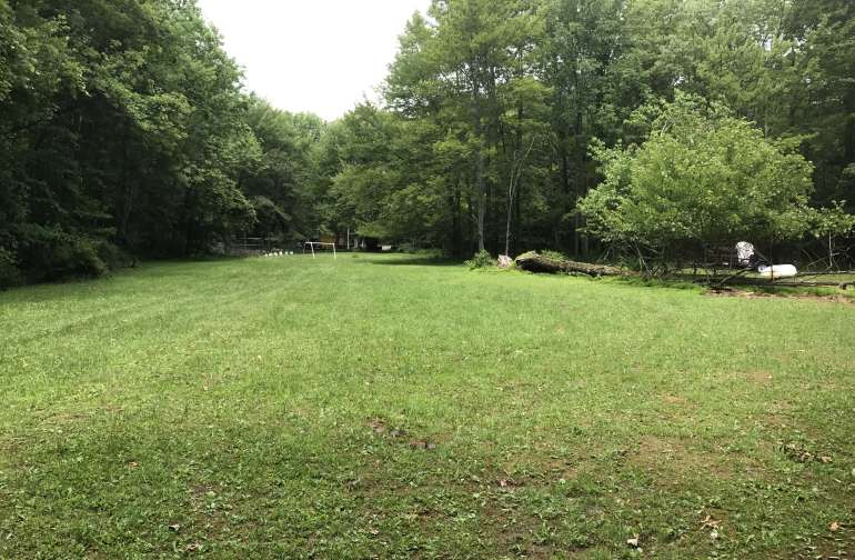 Our open area field where you can play the day away or watch our baby chickens and duck grow and play.