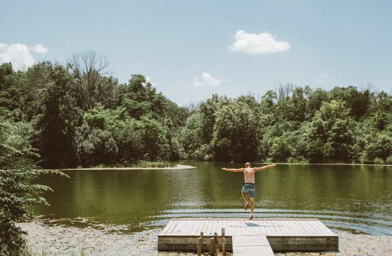 Summers in the south get stupid hot. So I jumped in the lake. And I don't regret it.