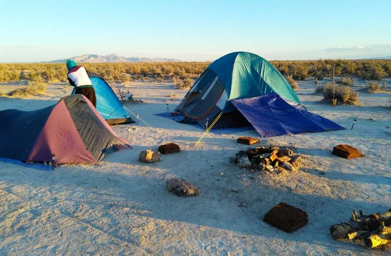 Wind can be fierce. Tie down your tents!
