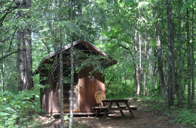 """In The Woods"" Camping Cabin"