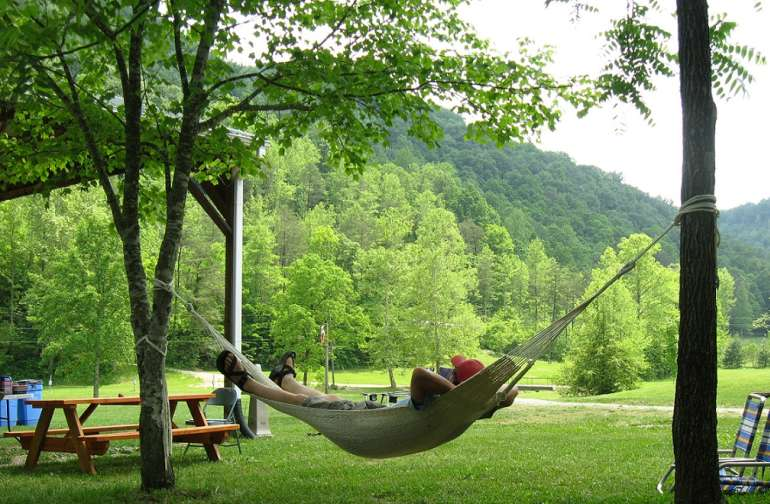 Hang your hammock in the holler.